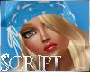 Blue Winter Hat - Blonde