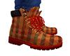 Plaid Work Boots 4a (M)