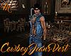 [M] Cowboy Jeans Vest