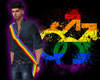 Rainbow Male Sash