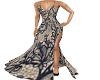 Black Print Gothic Gown