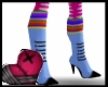 Rainbow Sock  Stilletos