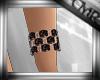 CMR Blk Stone Bracelet L