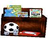 sports toy box shelf