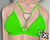 Latex Heart Bra | Green