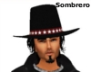 Sombrero with black hair