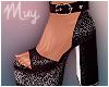 ! Sparkly Black Heels