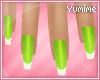 [Y] Lime Nails!<3