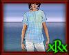 Top Plaid Blue Buttons