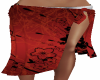 Red Add on Sarong Wrap