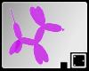 ` Purple Balloon Dog