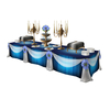 Blue Buffet Table