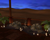 Bedouin Moon Chat Pouf