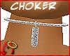 [m] Choker Hawt Silver