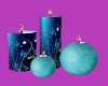 Candles - Blue/Teal