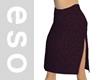 Eggplant Slit Skirt