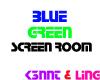 Blue Green Screen Room
