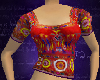 Indian Choli, Red