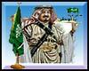 Saudi flag Display