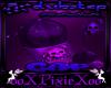 purple skull cap