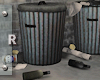 Garbage cans + items