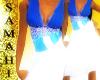 {S} Andora dress blue