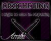 Crocheting Head Sign