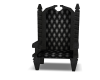 black thrown chair