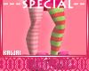 kawaii striped stoking