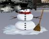 christmas time snowman