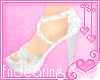 E)Sweet White Sandals