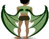 Green reptile wings