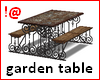 !@ Garden table + chairs