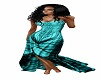 teal butterfly dress