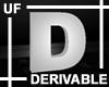 UF Derivable Letter D
