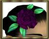 Purple Rose Hair Flower