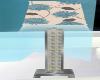 Teal Room Tall Lamp