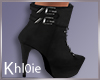 K luna black boots