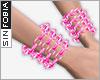 ::S::Pink ChainedBra L+R