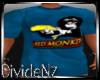 D: Red Monkey Blue Tee