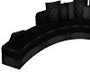 Schwarze Leder Couch