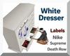 White Dresser & Labels