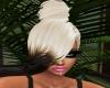 Blonde+ brown tips updo