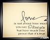 Love Quote on Easel