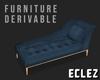 Chaise Lounge Dark Blue