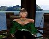 Brie Green Velvet Jacket