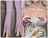 [Is] Floral Suit Purple