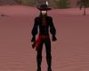 Pirate shirt Black & Red