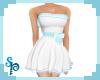 [S] White Aqua C Dress