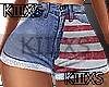 *USA Denin Shorts RL